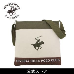 ショルダーバッグ メンズ レディース ビバリーヒルズ ポロ クラブ BEVERLY HILLS POLO CLUB BHC002 アイボリー/カーキ/カーキ (181274) hawks202110|tn-square