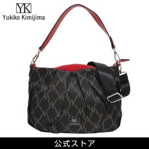 Yukiko Kimijima ユキコ キミジマ 2way ショルダーバッグ BK/RED 黒×赤 YK019-001 (183284){ 誕生日 プレゼント}|tn-square