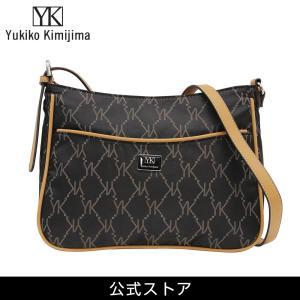 Yukiko Kimijima ユキコ キミジマ ワンショルダーバッグ BK/BE 黒×ベージュ YK019-002 (183285){ 誕生日 プレゼント}|tn-square