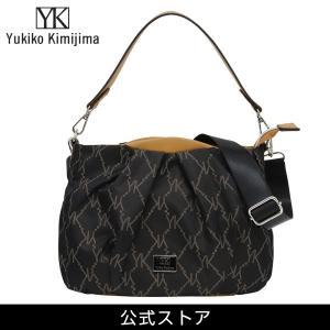 Yukiko Kimijima ユキコ キミジマ 2way ショルダーバッグ BK/BE 黒×ベージュ YK019-001 (189556){ 誕生日 プレゼント}|tn-square