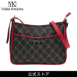 Yukiko Kimijima ユキコ キミジマ ワンショルダーバッグ BK/RED 黒×赤 YK019-002 (189557){ 誕生日 プレゼント}|tn-square