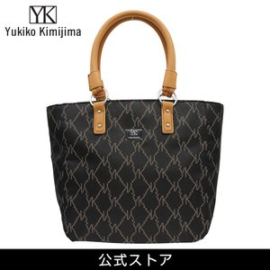 Yukiko Kimijima ユキコ キミジマ トートバッグ BK/BE 黒×ベージュ YK019-004 (189558){ 誕生日  プレゼント}|tn-square