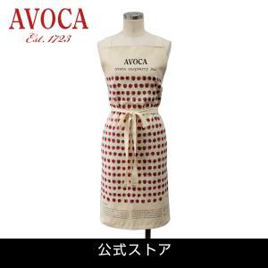 アウトレット エプロン おしゃれ 可愛いブランド AVOCA アヴォカ AVOCA RASPBERRY JAM APRON ( apron-jam ) { 保育士 フルーツラズベリー アイルランド製 綿|tn-square