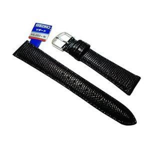 DX01A〔セイコー〕SEIKO 時計バンド 17mm DX01A リザード 黒 メンズ|tnp-store