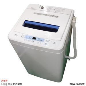 【中古】AQUA アクア 洗濯・脱水容量6.0kg 全自動洗濯機 風乾燥機能付き カラー:ホワイト AQW-S601(W) 2012年製 to-rulease