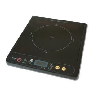 【新品】TEKNOS テクノス IH調理器/電磁調理器 IHクッキングヒーター 1200W ブラック ECT-1201