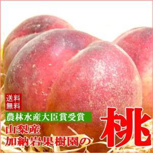お試し 送料無料 加納岩果樹園の桃  もも  中玉 約1.2...