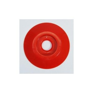 W301 コノエダブル No.3 赤 (20個入)  外径47mm×高さ7mm 測量用明示板 測量鋲 ポイント 標示板 土地家屋調査|tobeyaki