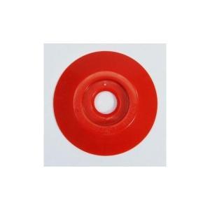 [1枚よりバラ売り] W301 コノエダブル No.3 赤 外径47mm×高さ7mm 測量用明示板 測量鋲 ポイント 標示板 土地家屋調査|tobeyaki