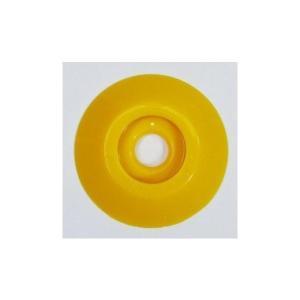 W303 コノエダブル No.3 黄 (20個入)  外径47mm×高さ7mm 測量用明示板 測量鋲 ポイント 標示板 土地家屋調査|tobeyaki