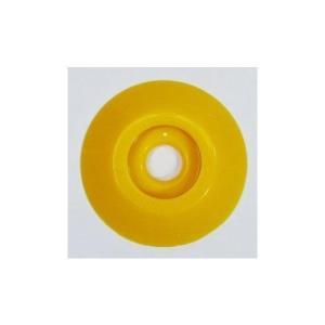[1枚よりバラ売り] W303 コノエダブル No.3 黄 外径47mm×高さ7mm 測量用明示板 測量鋲 ポイント 標示板 土地家屋調査|tobeyaki