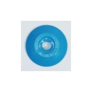[1枚よりバラ売り] W204 コノエダブル No.2 青 外径27mm×高さ4mm 測量用明示板 測量鋲 ポイント 標示板 土地家屋調査|tobeyaki