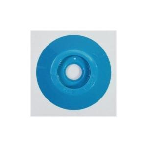 W304 コノエダブル No.3 青 (20個入)  外径47mm×高さ7mm 測量用明示板 測量鋲 ポイント 標示板 土地家屋調査|tobeyaki