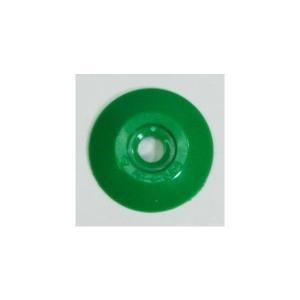 [1枚よりバラ売り] W206 コノエダブル No.2 緑 外径27mm×高さ4mm 測量用明示板 測量鋲 ポイント 標示板 土地家屋調査|tobeyaki