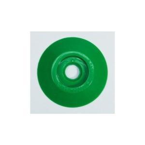 W306 コノエダブル No.3 緑 (20個入)  外径47mm×高さ7mm 測量用明示板 測量鋲 ポイント 標示板 土地家屋調査|tobeyaki