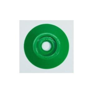 [1枚よりバラ売り] W306 コノエダブル No.3 緑 外径47mm×高さ7mm 測量用明示板 測量鋲 ポイント 標示板 土地家屋調査|tobeyaki