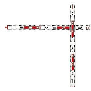 SK|TAIHEI 大平産業 スライドクロス SCR-110 ロッド(100cm・110cm) クロス金具1個 クリップカーソル2個  【測量 管内寸法測定 床堀測定 施工写真 工事写真】|tobeyaki