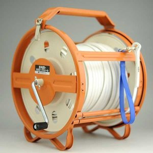 セキスイ エスロン測量ロープ 50mケース付き [山林 水面 港湾測量]|tobeyaki