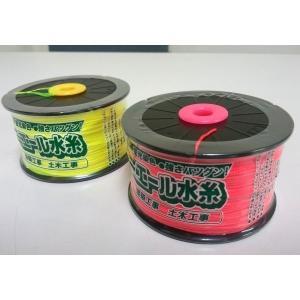 たくみ ミエール水糸 太270m巻 [イエロー/ピンク] 太さ約0.8mm 一般測量 土木 ブロック積など|tobeyaki