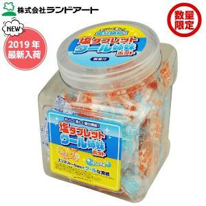 [数量限定] ランドアート 塩タブレット クール姉妹ポット (410g 約150粒) [塩飴 熱中症対策 塩タブレット5兄弟 塩分補給]
