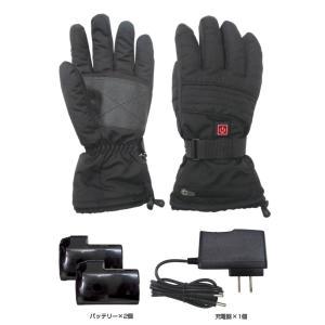 BRAIN ブレイン BR-010 ヒートグローブ バッテリーx2個 充電器付き サイズを選択 防寒手袋 電熱手袋|tobeyaki