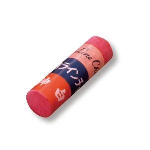 天神印スポーツラインチョーク 赤 LH-2 (12本入) 径25mmの極太チョーク  [測量 土木 工事現場 線引き 運動競技 陸上競技]|tobeyaki