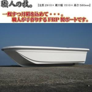 【受注生産品・代引き不可・送料別途見積】 小型FRPボート アスボヤ29 全長2910mm 重量約42kg トランサムL 船体のみ