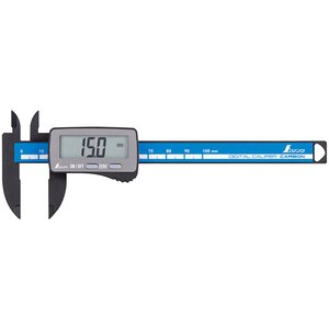 シンワ測定 19989 デジタルノギス カーボンファイバー大文字 100mm tobeyaki