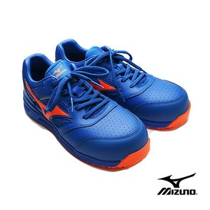mizuno ミズノ  ALMIGHTY LSII ブルー×オレンジ ひもタイプ 作業靴 安全靴 スニーカー F1GA210027 tobiwarabiueda