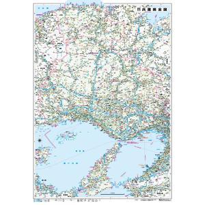 兵庫県全域の地図です。(縮尺1/170,000) 裏面は白地図になっています。 水や汚れに強い撥水加...