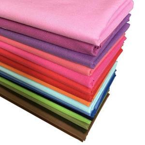 材質:棉100%。無地生地、サイズ:5646cm(22 x 18 インチ) 17色(17枚)で明るい...