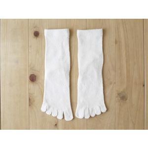 シルク5本指靴下 絹紡紬糸 かかと付き ソックス 生成 Mサイズ24-26cm tocochan