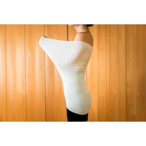 シルク腹巻き 夏用 ロング丈 60cm フリーサイズ 絹 シルク99% 日本製|tocochan|03