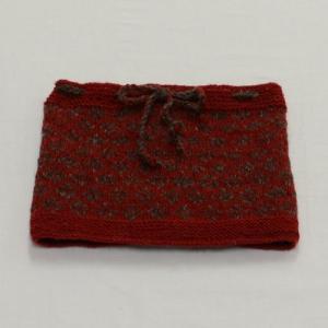 ノルディックネックウォーマー(8AMまで当日発送)2way紐で縛れば帽子にも!フェアトレード ウール100% ネパール 手編み シサムコウボウ|tocochan