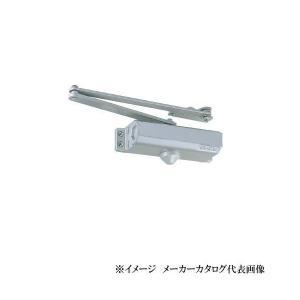 【日本ドアーチェック】NEWSTAR ニュースター ドアクローザー P-183A 色:シルバー(パラレル型・ストップ付)段付ブラケット