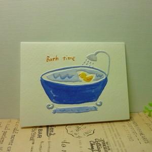 ギフトカード Blank ミニカード Bath time|today