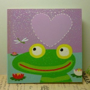 the art group 多目的カード Frog and Dragonfly カエルとトンボ|today