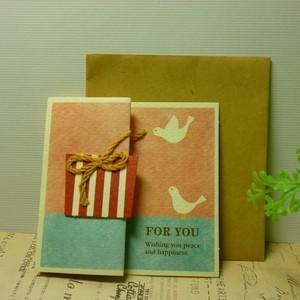 ギフトカード For you ミニカード 誕生日カード 多目的 プレゼント|today