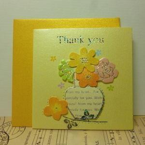 ギフトカード Thank you Card ミニカード グリーティングカード イエロー|today