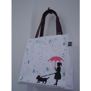 ミニトートバッグ 雨の日散歩|today