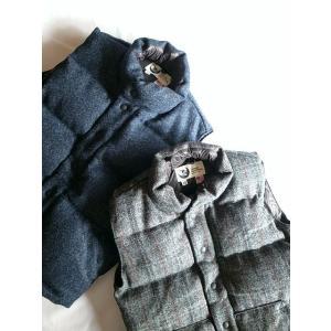Crescent Down Works クレセントダウンワークス ハリスツイードダウンベスト Italian Vest(限定モデル)/2カラー todayistheday
