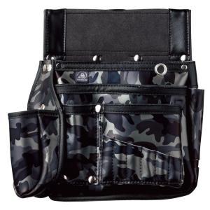 ふくろ倶楽部 墨つぼホルダー付腰袋 伝説六型 HB-036CM カモフラ|togiyanet