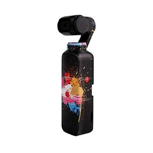 Sunnylife Osmo Pocket用 3M ボディーステッカー スキン デカール  - 柄:ブラックフラワー -   正規品 アクションカメラ アクセサリー/ クリックポスト発送|tohasen