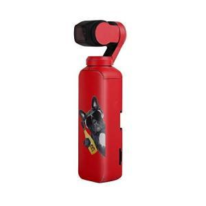 Sunnylife Osmo Pocket用 3M ボディーステッカー スキン デカール  - 柄:レッド -   正規品 アクションカメラ アクセサリー/ クリックポスト発送|tohasen