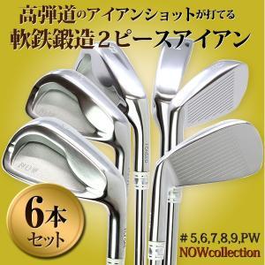 ゴルフ クラブ アイアンセット 軟鉄鍛造2ピース 6本組 #5,6,7,8,9,PW