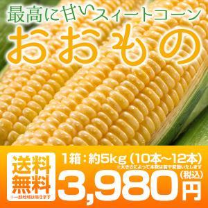 クーポン使用で20%OFF 送料無料 福島県産トウモロコシ おおもの 10〜12本 約5kg|tohoku-happy