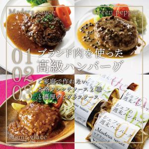【高級ハンバーグ】シェフの週末ハンバーグ 全種セット ( マデラソース グリーンペッパーソース デミ...