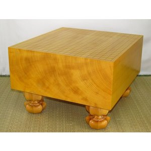 碁盤 トウシンプレミアム/本榧天地柾目五寸八分 (G112)|tohsin-bankomaten