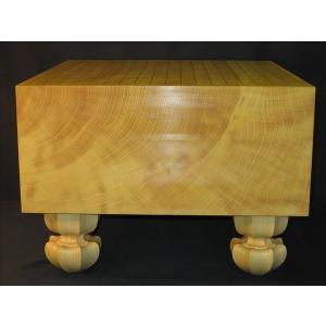 碁盤  トウシンプレミアム/本榧天地柾目六寸三分 (G104)|tohsin-bankomaten