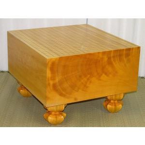 碁盤 トウシンプレミアム/本榧天地柾目六寸六分碁盤 新品(G132)|tohsin-bankomaten